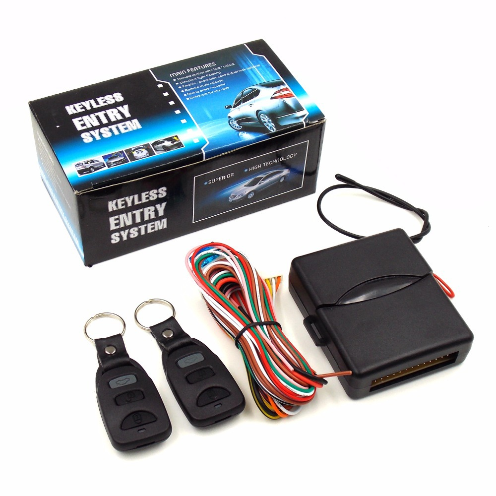 Car Lock Locking Keyless Universal Keyless Entry System With 2