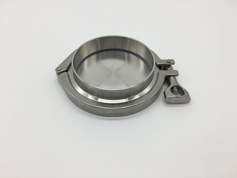Free shipping 5 133MM OD Sanitary TriClamp Ferrule End Cap Tri Clamp Silicon Gasket
