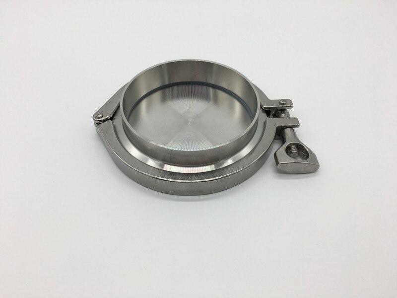 Livraison gratuite 5 ''133 MM OD Sanitaire TriClamp Virole + Fin Cap + Tri Clamp + De Silicium Joint