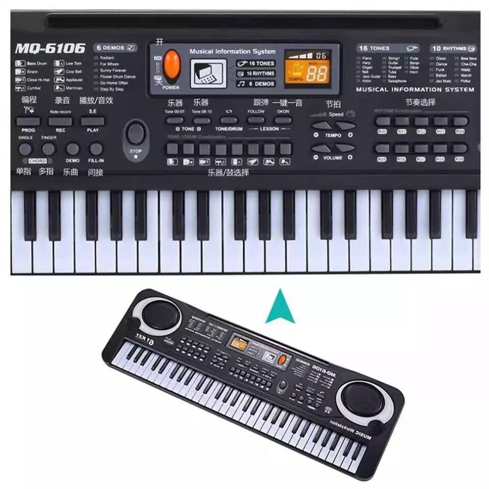 Attento Multi-funzionale Mini Pianoforte Elettronico Con Microfono 61 Tasti Giocattolo Per I Bambini Di Musica Digitale Tastiera Elettronica Fabbricazione Abile