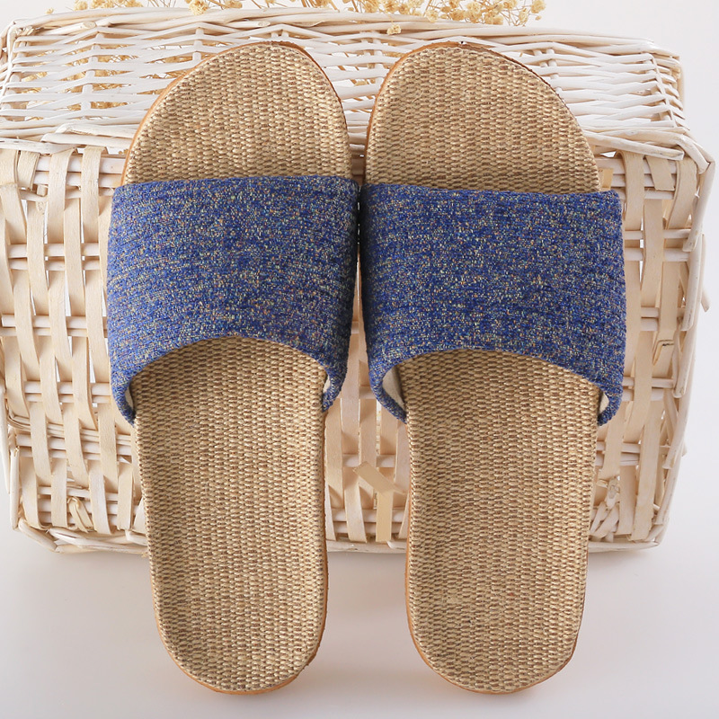 Summer Home Linen Non-slip Breathable Slippers Man Women Belt Indoor\Floor Girls Beach Open-Toed Slippers Shoes coolsa women s summer flat cross belt linen slippers breathable indoor slippers women s multi colors non slip beach flip flops