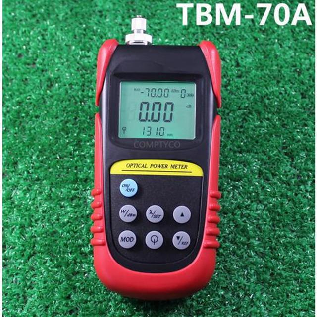 La gama alta TBM-70A MEDIDOR de potencia óptica multímetro instrumento de medición de probador de fibra óptica-$ number dbm $ number dbm