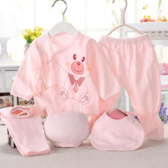 Newborn baby suits pure cotton ( 5pcs/set)
