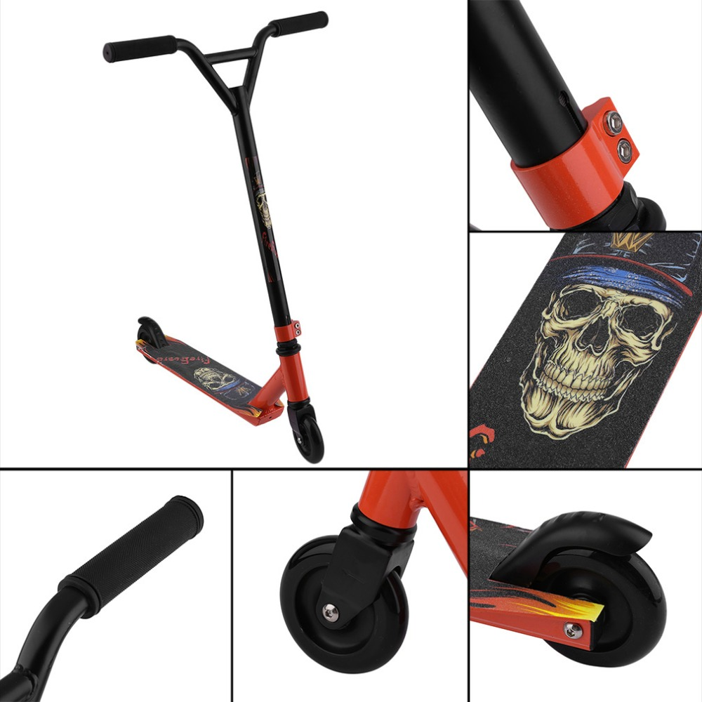 Adult Children Kick Scooter Bicycle Foldable PU 2wheels Body Building All Aluminum Shock Absorption Urban Campus Transportation