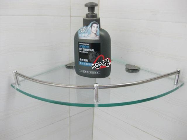 Bathroom Glass Corner Shelves Shower 21 100″ Glass Corner Shelf ...