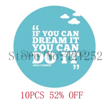 If You Can Dream It You Can Do It Walt Necklace keyring bookmark cufflink earring image
