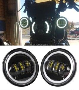 """Image 2 - 4.5 """"4 1/2"""" 30 W projektor LED mijania mgła światło do motocykla Harley Road King Street Glide Softail dziedzictwa Electra Glide touring"""