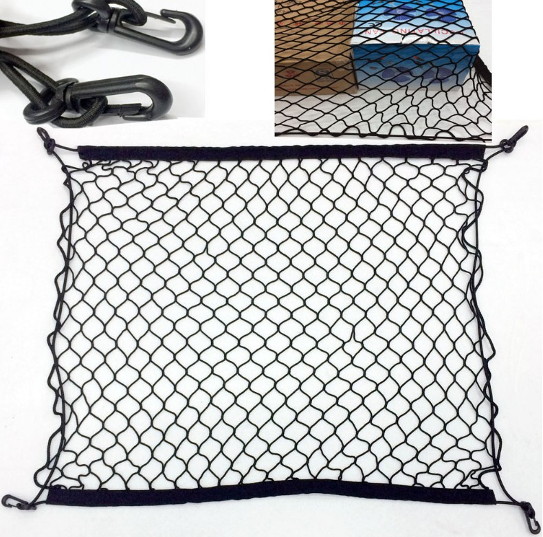 Car Trunk Luggage Storage Cargo Organiser Nylon Elastic Mesh Net With For Nissan Sunny March Murano Geniss,Juke Accessories