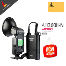 Free DHL !Godox Witstro AD-360 /AD360 II AD360II-N TTL On/Off-Camera Flash Speedlite+PB960 Battery Pack for Nikon DSLR Cameras