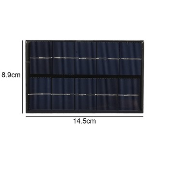 USB Solar Panel Outdoor 5W 5V Portable Solar Charger Pane Climbing Fast Charger Polysilicon Tablet Solar Generator Travel 6