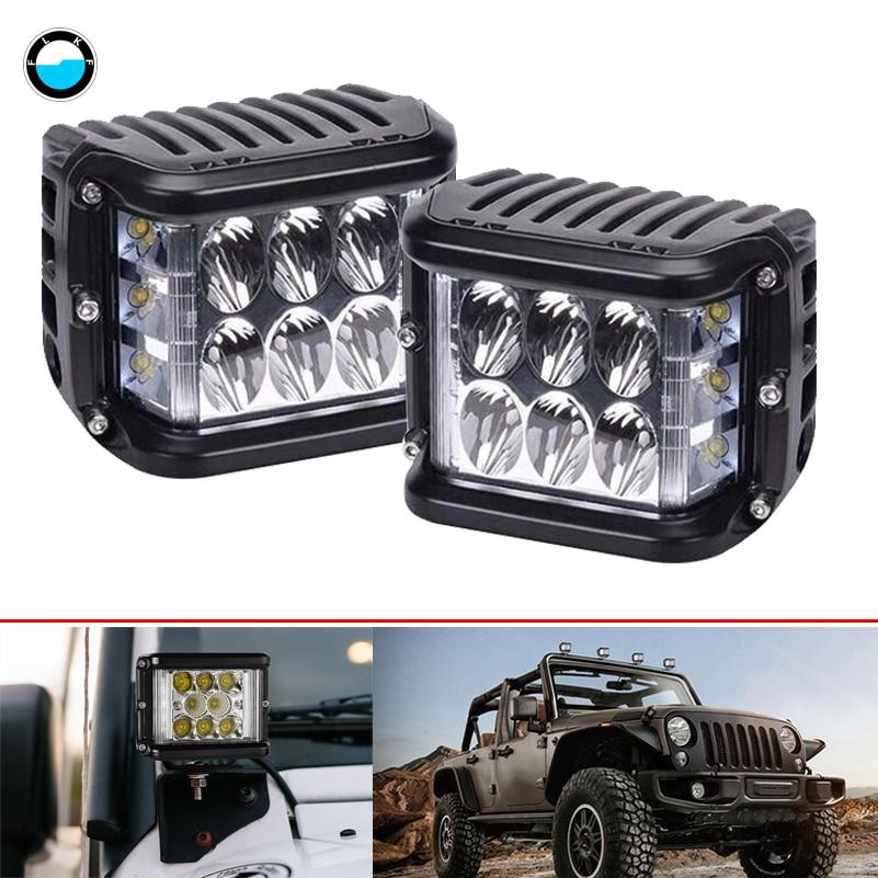 4 дюймов сбоку led cube свет работы для внедорожник Грузовик автомобилей вездеходы 36 Вт светодиодный свет 12 В 24 В Off Road светодиодные.