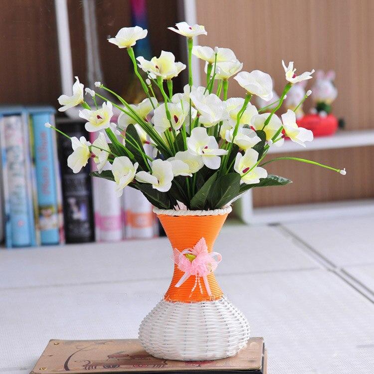 Una flor jarrn flores artificiales conjunto flor