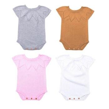 919448af2 2018 recién nacido Niño bebé Niñas tejer lana bebé infantil del mameluco sin  mangas jumpsuit traje verano ropa