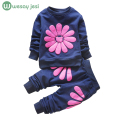 Girls clothes spring 2016 Fashion toddler girl clothing Kids children Print Floral Long Sleeve Shirts Tops+Pants Sets Clothes