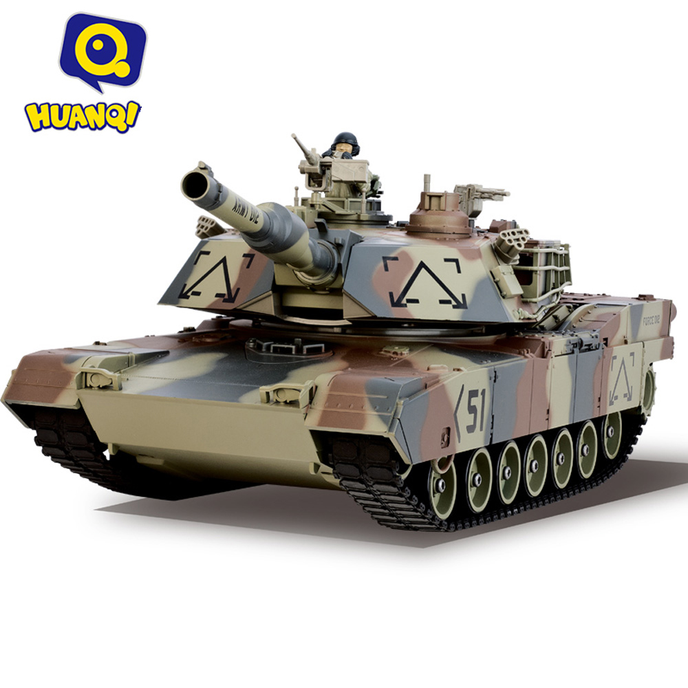 Battle Tank HUANQI 781-10 M1A2 27MHz Simulation Infrared Radio Control Battle Tank Children Toys Gifts 2 4g huanqi 516c rc infrared battle tank automatic shows tank remote control toys tank for children gift 1pcs lot