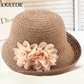 Lady Fashion Summer Sun Hat Women Wide Brim Beach Cap Outdoor Sunshade Cap  UV Sunscreen Sun Hat B-4869