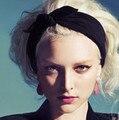 Ofertas a nueva algodón del oído venda de invierno para mujer y niña la moda del pelo turbante diadema para la muchacha Headwrap Top Knot Hairband 1 unid