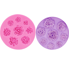 цена M0049 Rose Sugarcraft mould Flower silicone mold fondant cake decorating tools chocolate gumpaste mold в интернет-магазинах