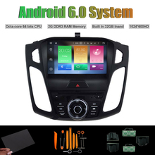 Android 6.0 octa-core reproductor de DVD del coche para Ford Focus 2015 auto Radios RDS WiFi 2G Ram 32G iNAND flash