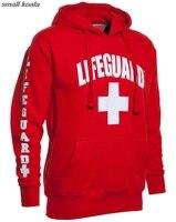 3 Side Print Lifeguard Adult Man Hoodie Sweatshirt Red Life Guard New Unisex S 2XL