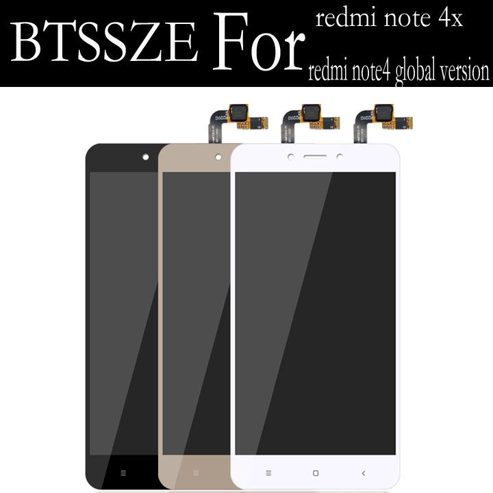 global version for xiaomi redmi note 4 lcd display + touch screen panel Sensor replacement assembly for xiaomi redmi note4