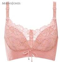 Cotton Wireless Beige Black Plus Size 40d Bra U Back Lace Bralette Bras For Women T500