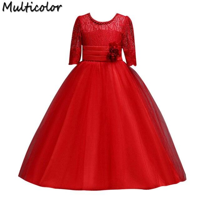 Multicolor Summer Dress Flower Girl Christmas Party Wear Kids ...