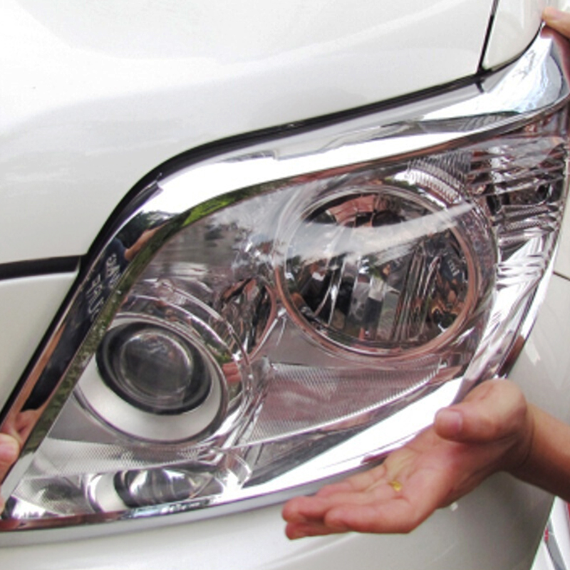 ABS Chrome For Toyota Prado <font><b>150</b></font> <font><b>2010</b></font> 2011 2012 2013 accessories car styling Car Headlamps cover Cover Trim image