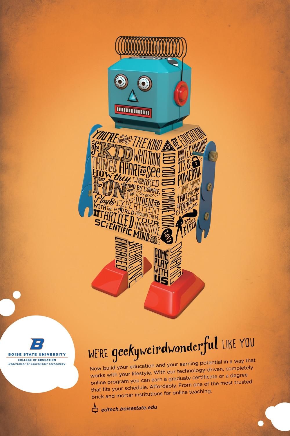Sci Fi Digital Robot Cartoon Movie Vintage Retro Kraft