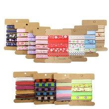 5 ярдов/партия(1 ярд/дизайн) 10 мм много стилей печатные корсажная лента для головных уборов Свадебная вечеринка материалы для украшения R0401