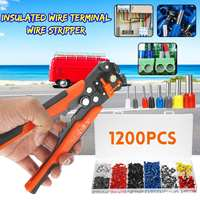 1201 Pcs Cable Wire Terminal Copper Crimp Connector with Multifucioal Hand Crimper Pliers Crimping Tool Set Terminal Connect Kit