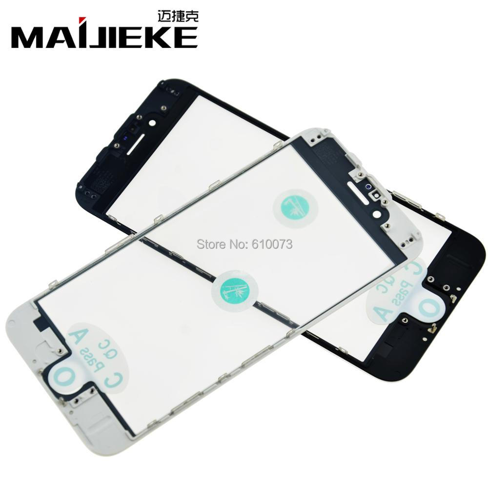 Original Cold Press 4 In 1 Front Screen Glass With Frame OCA Polatizer For Iphone 7