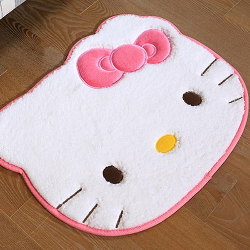 Size 55cm*45cm Hello Kitty bedroom carpet Cartoon carpets for living room Bath Mat modern bathroom rugs bathroom alfombras mat03