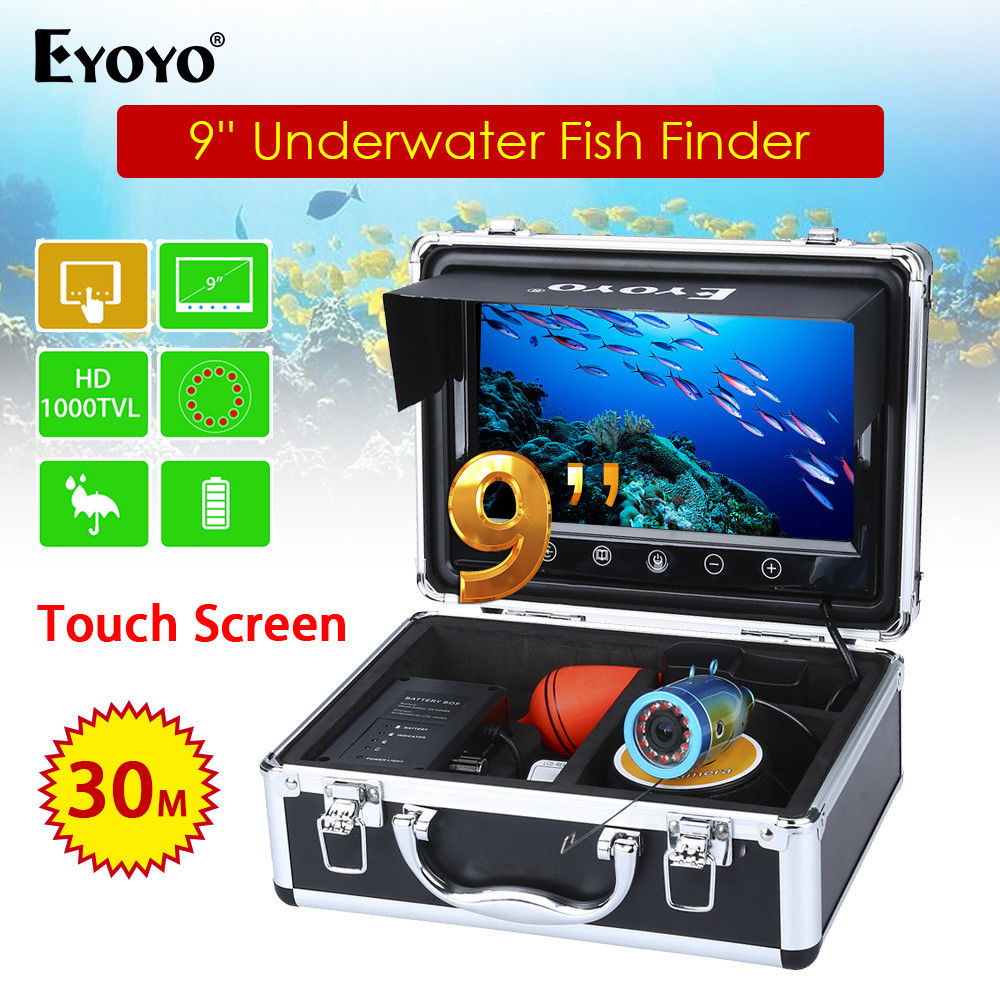 EYOYO 9 Touch Screen Fishing Finder 15m Infrared Light Controllable Underwater Camera For Ocean Sea Boat ICE Fishing FishFinder 19 inch infrared multi touch screen overlay kit 2 points 19 ir touch frame