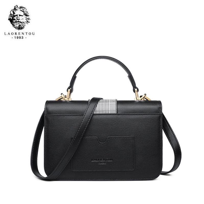 LAORENTOU bolso de marca de lujo de alta calidad 2019 nuevo bolso de hombro de moda casual salvaje portátil bolso de mensajero de cuero - 4