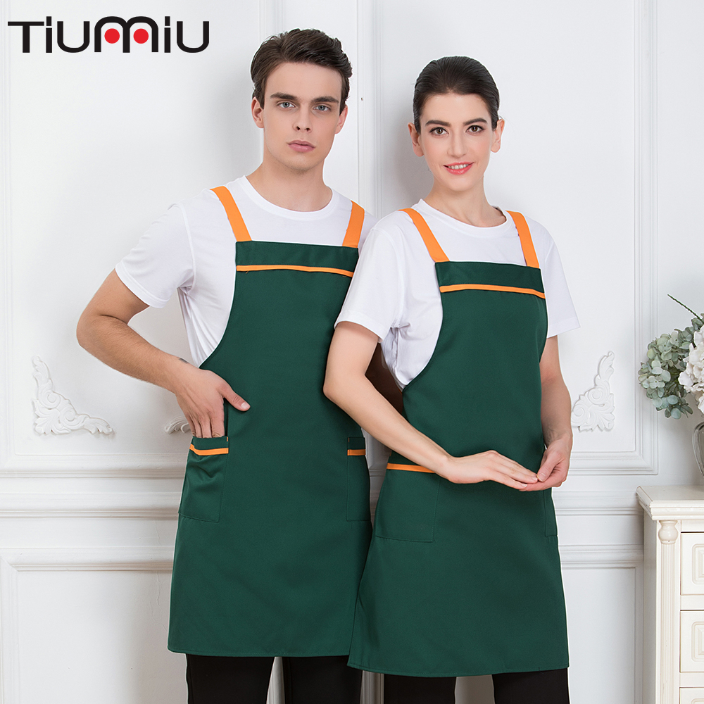 Apron Bow-knot Chef Work Wear Webbing Men Women Prevent Falling Canteen Cafe Kitchen Cook Uniforms Hanging Neck Waiter Waitress