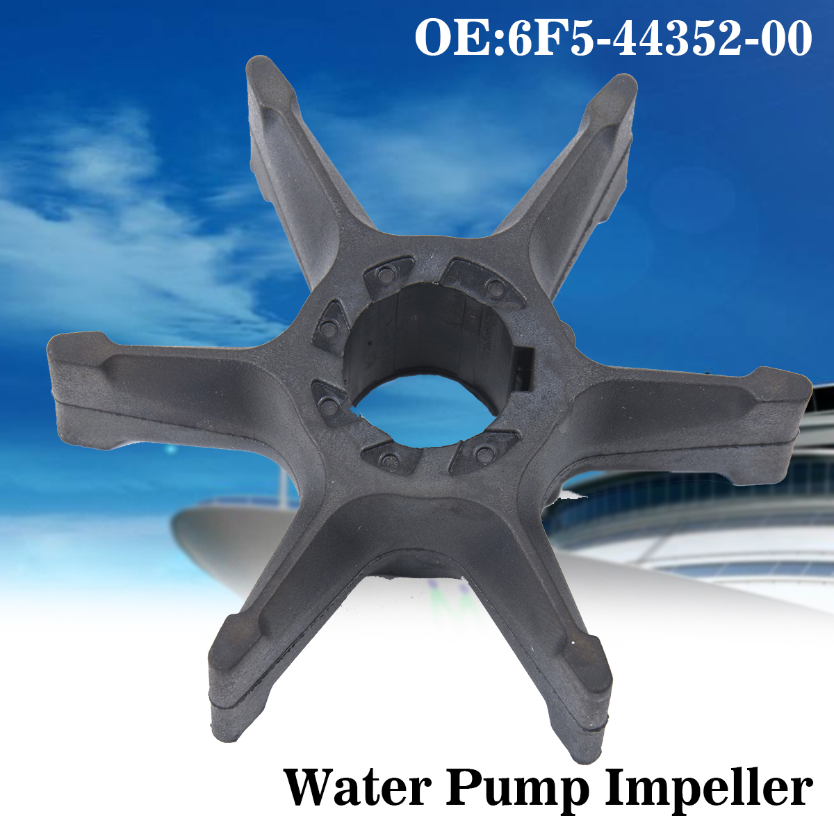 Boat Outboard Water Pump Impeller Repalcement for Yamaha 40hp 6F5-44352-01-00