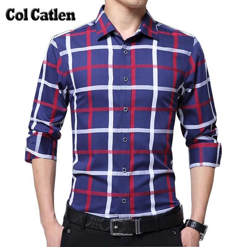 Kvaliteetne meeste ruuduline särk pikkade varrukatega puuvillane - Meeste riided - Foto 1