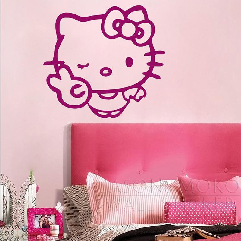 Decorations Murales Stickers Hello Kitty Vinyle Autocollant Mural