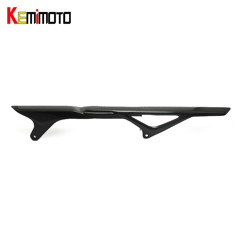 KEMiMOTO MT 09 FZ 09 Real Carbon Fiber Rear Chain Guard Mud Cover For YAMAHA MT-09 FZ-09 MT09 FZ09 2014 2015 2016 MT09 FZ09 опрыскиватель компрессионный venus pro heavy duty acid kwazar 1 5л