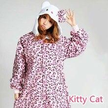 256c6c092 New Arrival Style Hello Kitty Animal Cosplay Pajama Winter Lady Adult  Onesies Halloween Cosplay Pajama Christmas