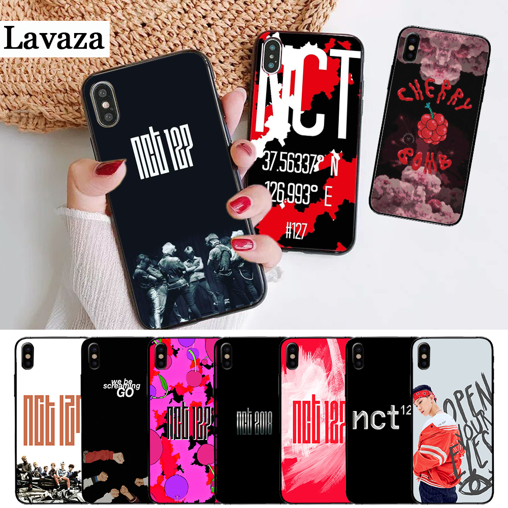 Lavaza NCT 127 Kpop Boy group Silicone Case for iPhone 5 5S 6 6S Plus 7 8 11 Pro X XS Max XR