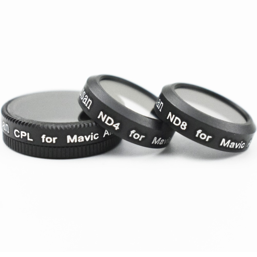 3 Pcs CPL+ND4+ND8 filters for DJI Mavic Air Lens Filters