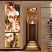 Modern Flower Paintings Large Abstract Art Oil 3 Piece Home Decorative Wall Canvas Picture Set