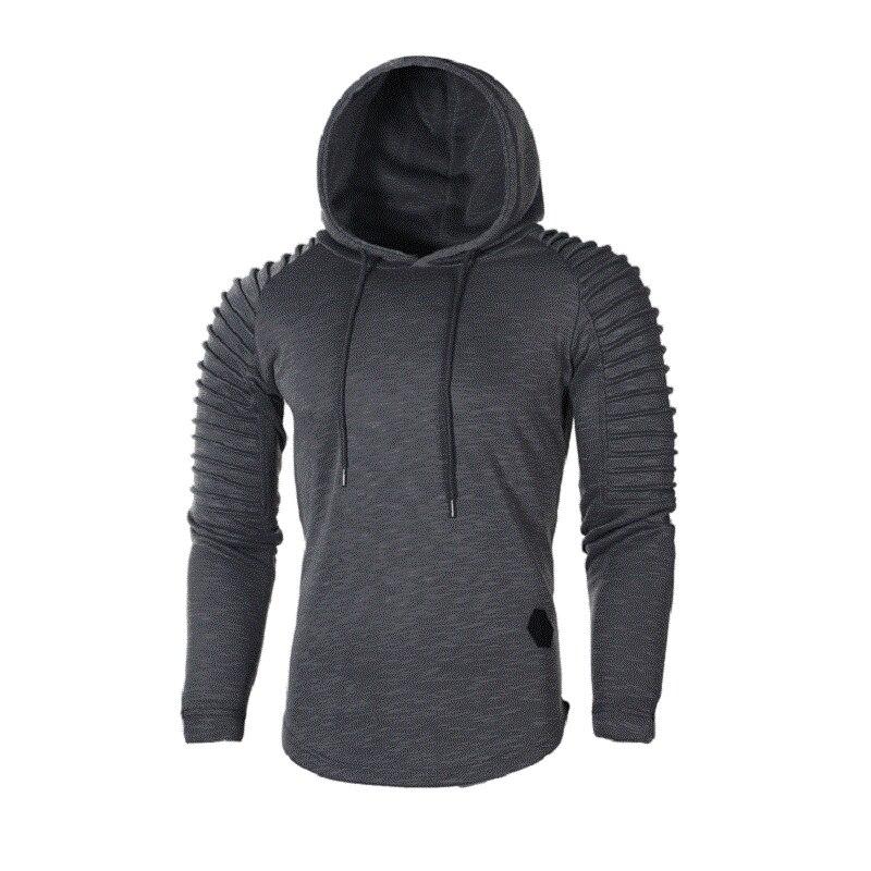 Men Sportswear Hoodies Long Sleeve Pullover Hoody Tracksuit Hooded Sweatshirt Male Sweat Coat casual hoodies and sweatshirts