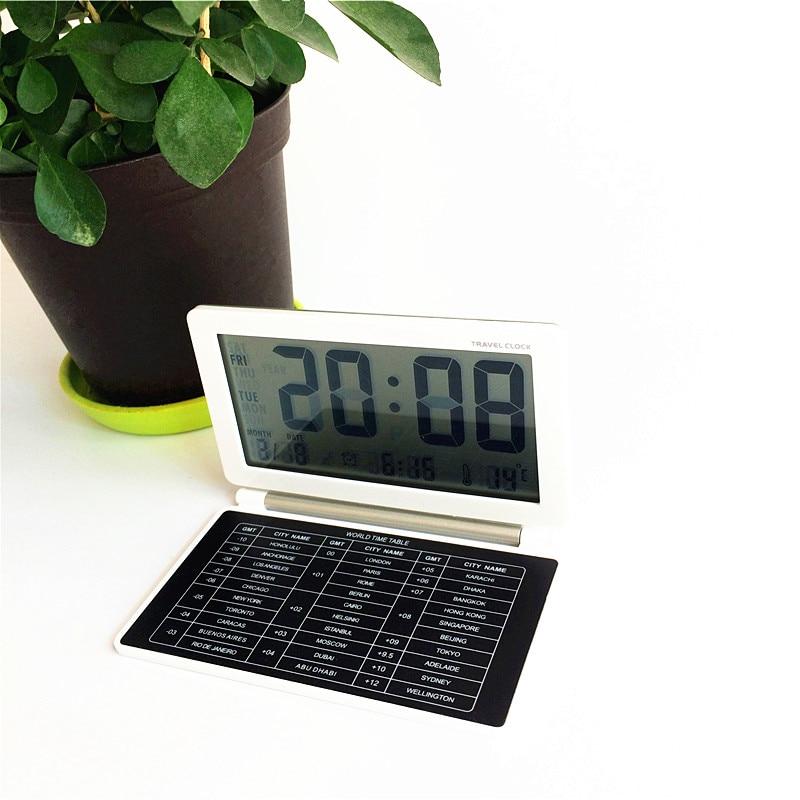 High quality!Travel alarm clock,date,snooze function,desktop GMT world time table LED digital clocks xyzTime-AQ141-travel-clock