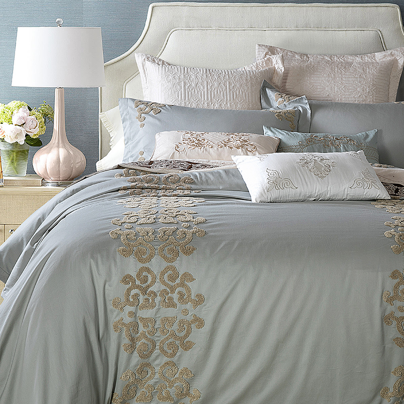 modern duvet cover set embroidery quilt cover bedding pillowcases soft bed sheet egyptian cotton bedding set