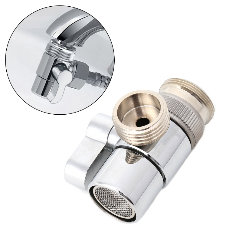 Bathroom Kitchen Brass Sink Valve Diverter Faucet Splitter To Hose Adapter M22 X M24