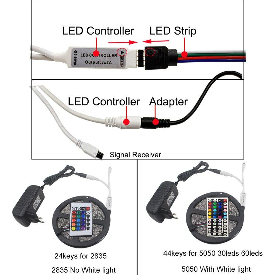 HTB1tIHFdf1G3KVjSZFkq6yK4XXas SMD 5050 60leds/m 5m 10m RGBW RGBWW RGB LED Strip Lighting LED Tape Diode ribbon Wifi Controller DC 12V Adapter LED Strip Set