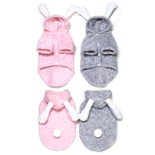 Warm Winter Pet Dogs Clothes Hoodie Fleece Cozy Small Dog Pajamas Cosplay Cute Rabbit For Puppy Cachorro Roupa S-XXL